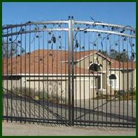 Wrought Iron Driveway Gate Opener